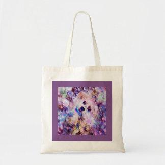 Morkie Dog Puppy Bubbles Purple Fantasy Tote Bag