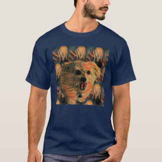 "Morkie Dog Puppy ""The Scream"" Funny Humor T-Shirt"