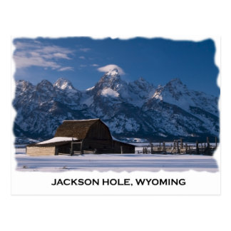 Mormon Row and the Tetons Postcard