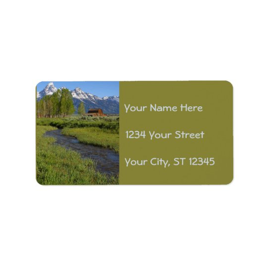 Mormon Row Barns Address Labels
