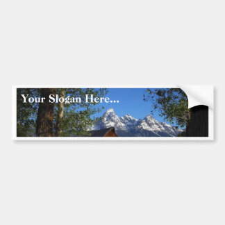 Mormon Row Barns In Grand Teton Park Bumper Sticker