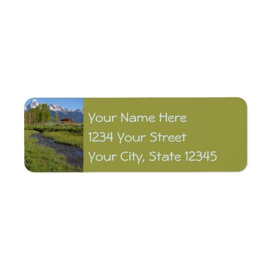 Mormon Row Barns Return Address Labels