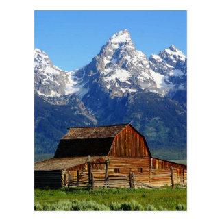 Mormon Row Barns, Wyoming Landscape Postcard