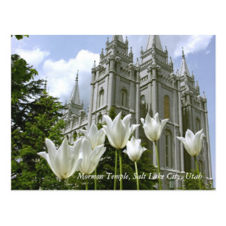 Mormon Temple, Salt Lake City, Utah Postcard