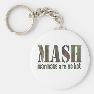 Mormons are so Hot! Basic Round Button Key Ring