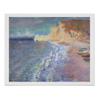 Morning at Etretat, 1883 (oil on canvas) Posters