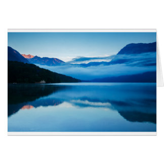Morning at Lake Bohinj in Slovenia Card