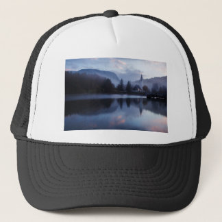 Morning at Lake Bohinj in Slovenia Trucker Hat
