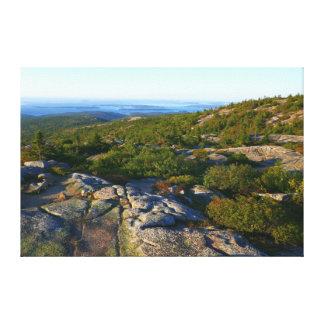 Morning atop Cadillac Mountain at Acadia Canvas Print