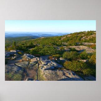 Morning atop Cadillac Mountain at Acadia Poster