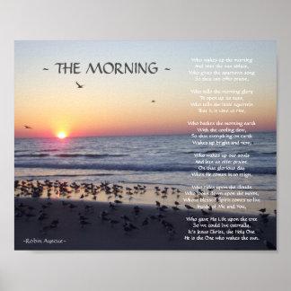 MORNING BEACH SUNRISE POEM POSTER