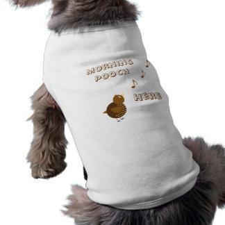 Morning Bird, Cartoon Sleeveless Dog Shirt