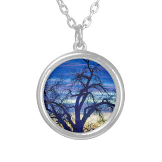 Morning Blues Silver Plated Necklace