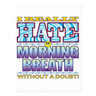 Morning Breath Hate Face Postcard