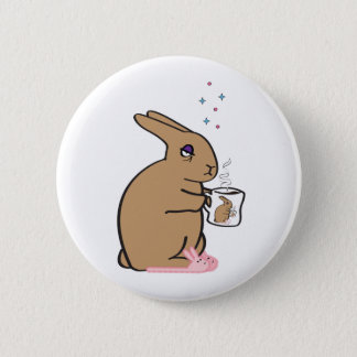 MORNING BUNNY 6 CM ROUND BADGE