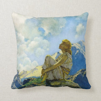 Morning, by Maxfield Parrish Cushion