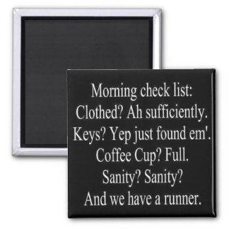 morning check list magnet