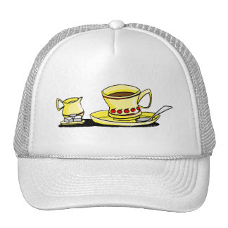 Morning coffe, cream and sugar hat