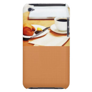 Morning Coffee Computer and Croissant Barely There iPod Case