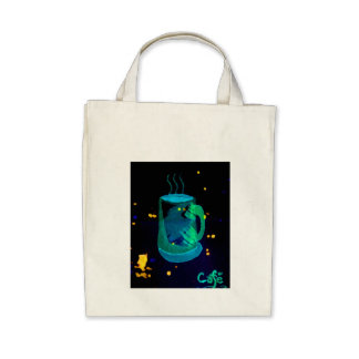 """Morning Coffee""  CricketDiane Coffee Art Tote Bags"