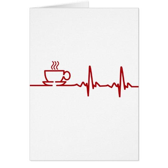 Morning Coffee Heartbeat EKG Card