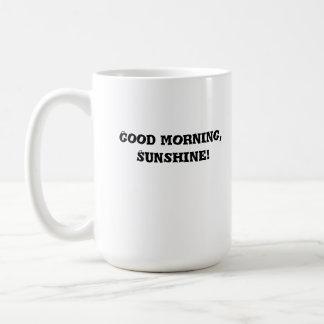 morning, coffee, mug, cup, fun, glassware basic white mug