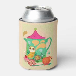 Morning Coffee Owl Can Cooler