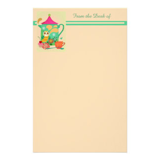 Morning Coffee Owl Stationery