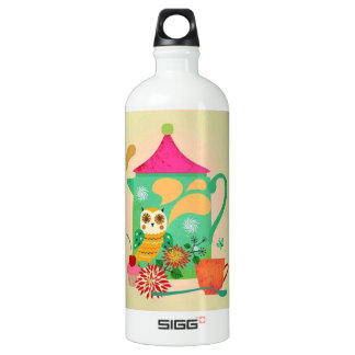 Morning Coffee Owl Water Bottle
