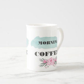 Morning Coffee Watercolor Mug