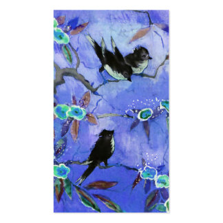 Morning Colors: Bird Painting in Blue & Turquoise Pack Of Standard Business Cards