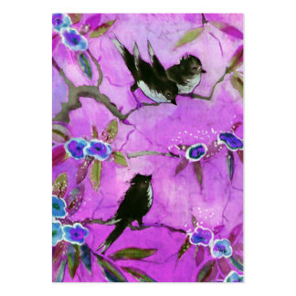 Morning Colors: Bird Painting in Lilac and Purple Pack Of Chubby Business Cards