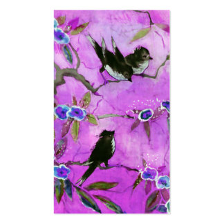 Morning Colors: Bird Painting in Lilac and Purple Pack Of Standard Business Cards