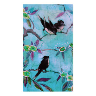 Morning Colors: Bird Painting in Turquoise & Green Pack Of Standard Business Cards