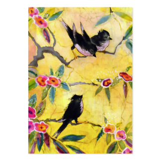 Morning Colors: Bird Painting in Yellow and Pink Pack Of Chubby Business Cards