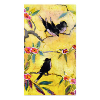 Morning Colors: Bird Painting in Yellow and Pink Pack Of Standard Business Cards