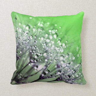Morning Dew green Throw Pillow