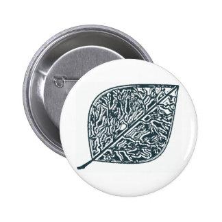 Morning Dew Leaf Pinback Button