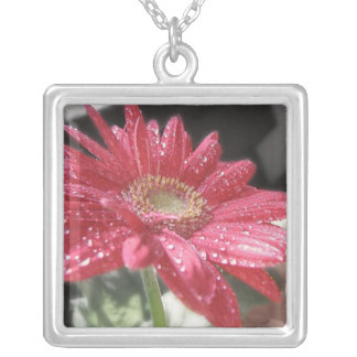 Morning Dew Square Pendant Necklace
