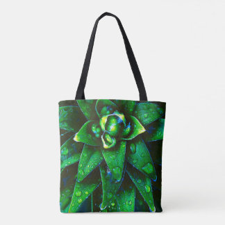 Morning Dew On Plant Tote Bag