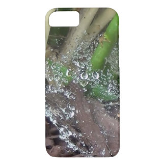 Morning Dew On Spider Web Plants iPhone 7 Case