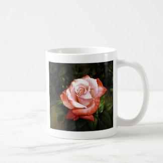 Morning dew on the rose faded mug