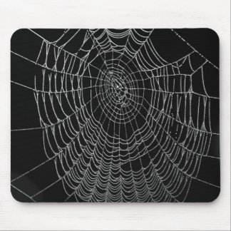 Morning Dew On The Web Mouse Pad