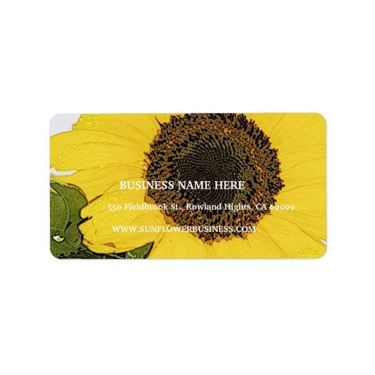 Morning Dew Sunflower Label