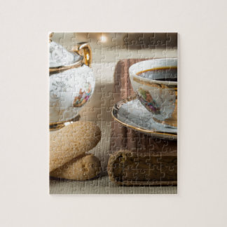 Morning espresso and cookies savoiardi jigsaw puzzle