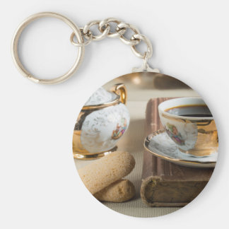 Morning espresso and cookies savoiardi key ring