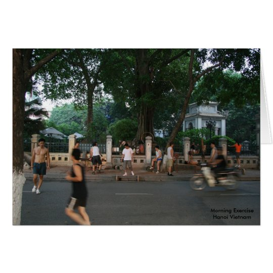 Morning Exercise * Hanoi Vietnam Card