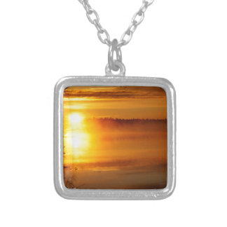 Morning Fire Silver Plated Necklace