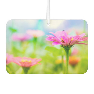 Morning flowers car air freshener