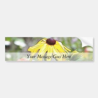 Morning Garden - Black Eyed Susan Car Bumper Sticker